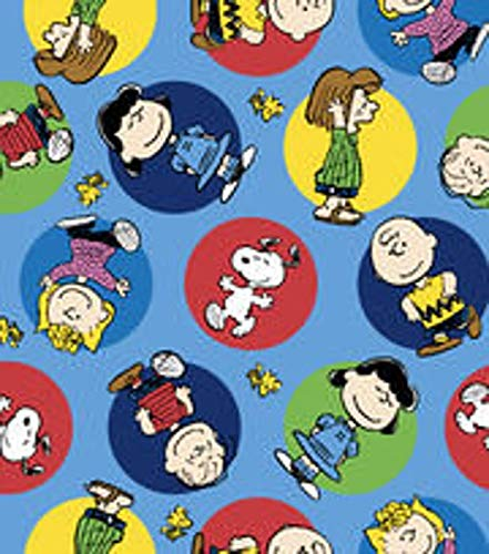 Country Snuggles Peanuts Flannel Fabric by The Yard (Fat Quarter)