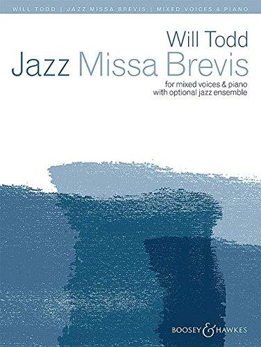 Jazz Missa Brevis: gemischter Chor (SATB divisi) und Klavier; Jazz-Trio (Klavier, Bass und Schlagzeug) oder Jazz-Ensemble (Alt-Saxophon, 2 Trompeten und Jazz-Trio) ad libitum. Chorpartitur.