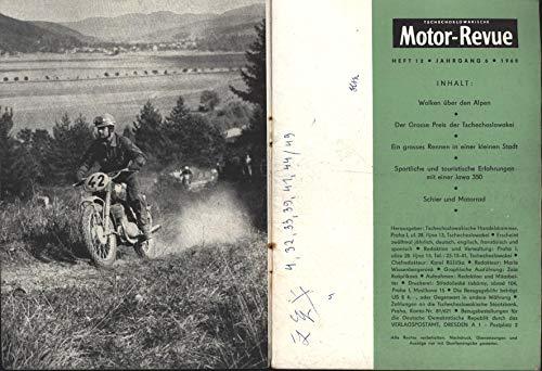 Motor Revue, tschechoslowakische Zeitschrift;Motorrad JAWA 250ccm Umbau mit Ski ,Spezialumbau von Firma Fleron für Transportmittel für schwerte Winterbedingungen auf Strasse und Gelände