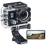 Somikon Helmkamera: Einsteiger-4K-Action-Cam, WLAN, 2 Displays, Full HD 60 B./Sek, IP68 (Aktion Kamera)