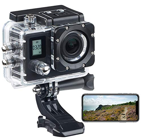 Somikon Aktion Kamera: Einsteiger-4K-Action-Cam, WLAN, 2 Displays, Full HD 60 B./Sek, IP68 (4K Kamera)