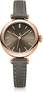 LZRDZSW Womens Analogue Quartz Watch with Leather Strap,Exquisite and Compact Ladies Watch for Women Ladies Girls,Student Waterproof Quartz Watch Easy-to-wear Design (Color : Gray)