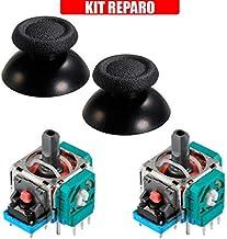 Kit Reparo Controle Ps4 - 2 Analógicos 3d Playstation 4 + Par de Capa Analógico Ps4