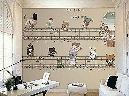 FSKJBZ 3D Photo Wallpaper Custom Living Room Kids Mural Hand Drawn Score 3D Painting Sofa Background Wall Sticker Wallpaper para Wall 3D @ 300cmx210cm