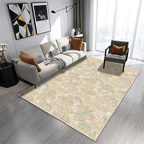 alfombras pie de Cama Marrón Amarillo de la Alfombra Rectangular Sala de Estar Decorativa Cristal Terciopelo Confort Tatami Suelo alfombras habitacion 100x200cm 3ft 3.4' X6ft 6.7'
