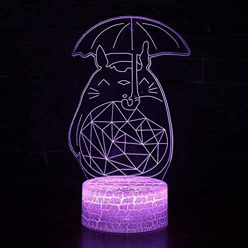 Lámpara 3D de ilusión con lámpara LED de noche Pokemon Go Mew, con sensor táctil de color cambiante para habitación y ambiente acrílico, regalo creativo N16-N29