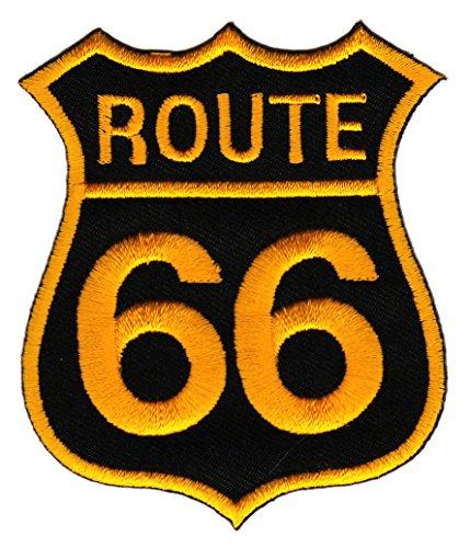 Aufnäher Bügelbild Route 66 Biker Usa