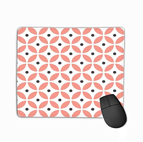 Mouse Pad Abstract Geometric Pattern Scandinavian Style Pastel Color Wallpaper Cool Rectangle Rubber Mousepad