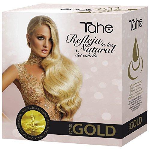 Tahe Gold Pack: Champú Keratin Gold 300 ml + Mascarilla Keratin Gold 300 ml + Elixir Keratin Gold 30 ml