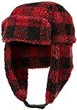 Amazon Brand - Goodthreads Men's Sherpa Trapper Hat, Red Buffalo Plaid, Large