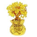OTOTEC Gelb Feng Shui Geld Glück Stein Baum Kristall Kunst Dekoration Büro Wohnzimmer Viel Glück