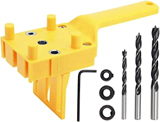 Yakamoz Handheld Dowel Jig Kit Doweling Jig Hole Drill Guide Joint Woodworking Tool with 6 8 10mm Drill Bits