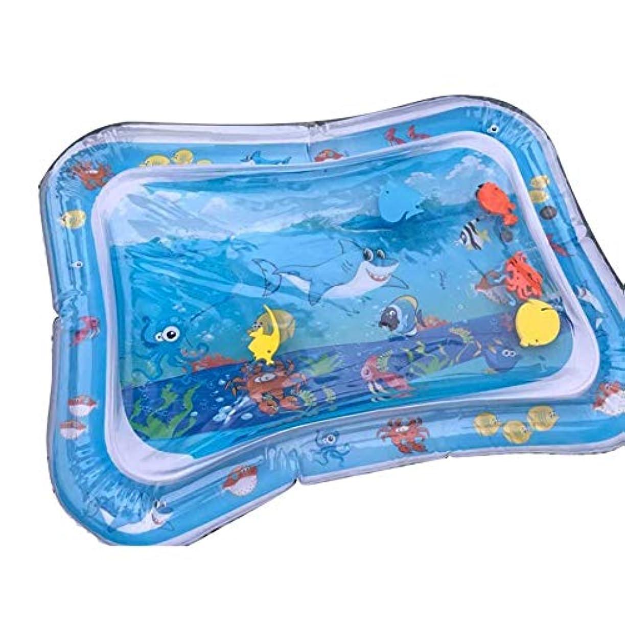アレルギー不完全大惨事クリエイティブデュアルユース玩具ベビーインフレータブルノックパッドベビーウォーター枕前立腺水枕パットおもちゃSGS認証-ブルー