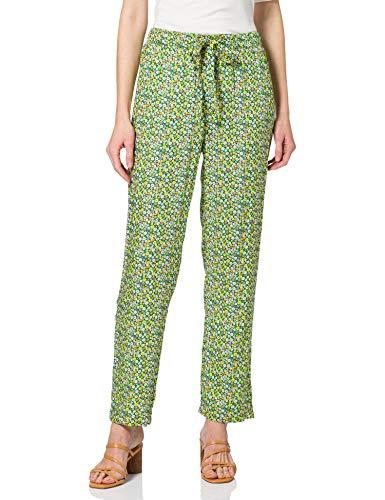 Vero Moda Vmsimone N/W String Pants Exp Ga Pantaln de Vestir, Black Forest/AOP: Rosy, L para Mujer