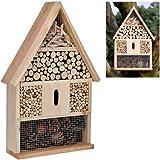 Insektenhotel aus Holz naturbelassen gefüllt mit natürlichen Materialien Insektenhaus Nisthilfe...