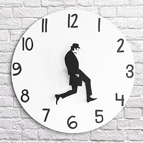 Ministry of Silly Walks - Reloj de pared de 2021 Silly Walk, reloj Monty Python, divertido reloj de hombre caminante, 30 cm, plástico acrílico, reloj decorativo perfecto