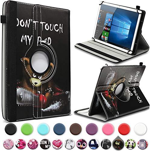 UC-Express Tablet Hülle für Blaupunkt Atlantis A10.303 Tasche Schutzhülle Case Schutz Cover 360° Drehbar 10 Zoll Etui, Farbe:Motiv 3