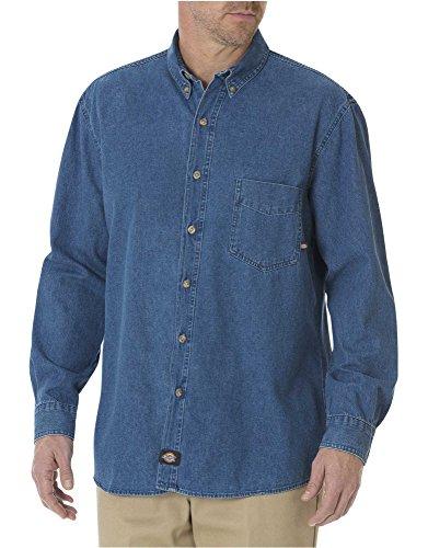 Dickies WL300SNB Camisa de Trabajo para Hombre, color Stone Washed, XLRG