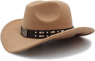Ruiyue Cool Western Cowboy Hats Sun Visor Cap Travel Western Hats Cowboy Equestrian Cap For Men Women
