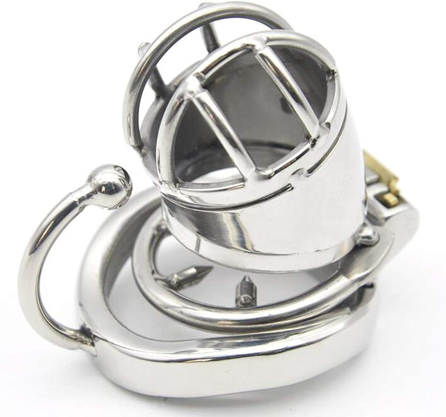 CQ Men's Stainless Steel Arc Chastity Lock Metal Anti-Off Ring Home Personality Creative Stimulation Toys