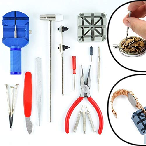 W 16PCS DELUXE Uhr Öffner Werkzeug Kit Reparatur Pin Entferner (14Tage Geld zurück Garantie) [Energieklasse A + +]