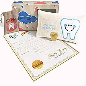 Tooth fairy idea: a kit that includes a pillow and a certified letter