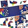 CORPER TOYS パズルこども 3IN1 ジグソーパズル 図形パズル 組み合わせ 知恵の板 三目並べ マグネットボ...