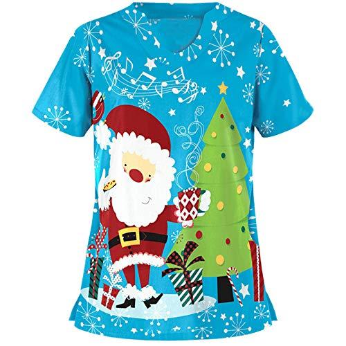 Auifor Damen Weihnachten T-Shirt, Thanksgiving Nurse Tshirt Weihnachtsmotiv...