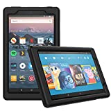 MoKo Case for All-New Amazon Fire HD 8 Tablet (7th/8th Generation, 2017/2018 Release) - Light Weight Shock Proof Soft Silicone Back Cover [Kids Friendly] for Fire HD 8, Black