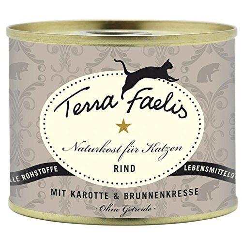 Terra Faelis Rind | 12x 200 g naturgesundes Katzenfutter nass