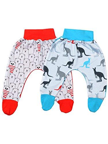klekle Baby Mädchen Pump Strampel Baggy Hose (2er Pack) Bär Rot Känguru Blau 22766 Größe 92