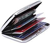 RFID Stainless Steel Wallet Credit Card Holder- Prevent Electronic Credit Card Scan Theft - Cool Slim Design for Men & Women