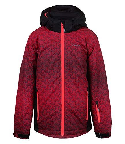 Icepeak Jungen Skijacke Schneejacke Winterjacke Kapuze Horus JR 2-50 055 646, Farbe:Rot, Größe:140, Artikel:-680 Burgundy