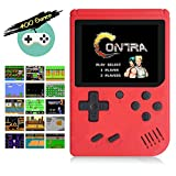 Aisallin Retro FC Handheld Game Console with 400 Classic Games for Kids Adult, 3 Inch HD Screen FC Video Game Console with Much Childhood Fun Support TV Output USB Rechargeable (Red)