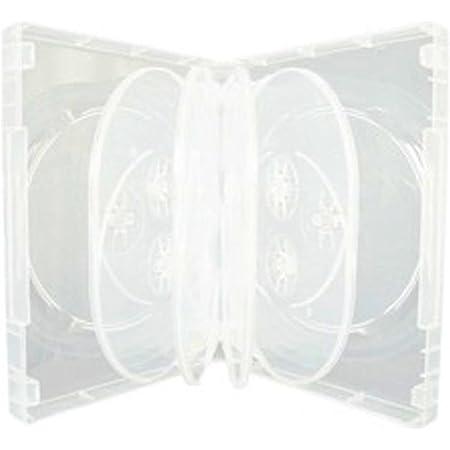 DragonTrading® - 1 caja de almacenamiento para 10 unidades de CD/DVD/Blu-ray, 36mm, color transparente