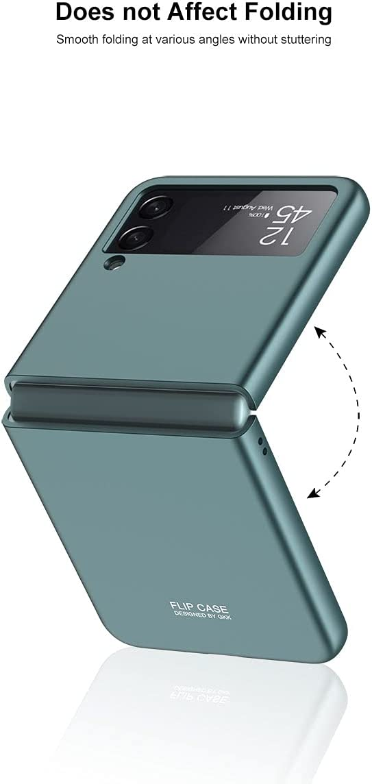 SHBDZGS Compatible with Samsung Galaxy Z Flip 3 Case Cover, Ultra Thin Hard PC Matte Finish Anti-Scratch Shook-Proof Bumper Case for Samsung Galaxy Z Flip 3 5G (Gray)