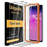 [4 PACK]UniqueMe Protector de Pantalla Compatible con Samsung Galaxy S10e Cristal Templado, [Sin burbujas] [Dureza 9H] Película transparente HD Vidrio Templado