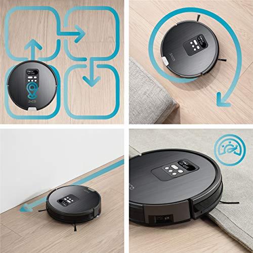 ZACO V85 Saugroboter mit Wischfunktion, App & Alexa Steuerung, 8cm flach, automatischer Staubsauger Roboter, 2in1 Wischen oder Staubsaugen, für Hartböden, Fallschutz, mit Ladestation - 6