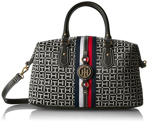 Tommy Hilfiger Handbag Jaden Satchel, Black/White