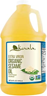 Organic Sesame Oil, Kevala, 1/2 Gallon