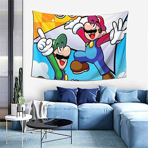 TUCBOA Wall Hanging,Tapiz De Super Smash Bros Mario, Tapices para Colgar En La Pared De Primera Calidad para La Sala De Estar del Dormitorio,102x152cm