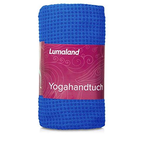 Lumaland Premium Mikrofaser Yoga Handtuch mit Antirutsch Noppen 60x180cm fŸr die Yogamatte Himmelblau