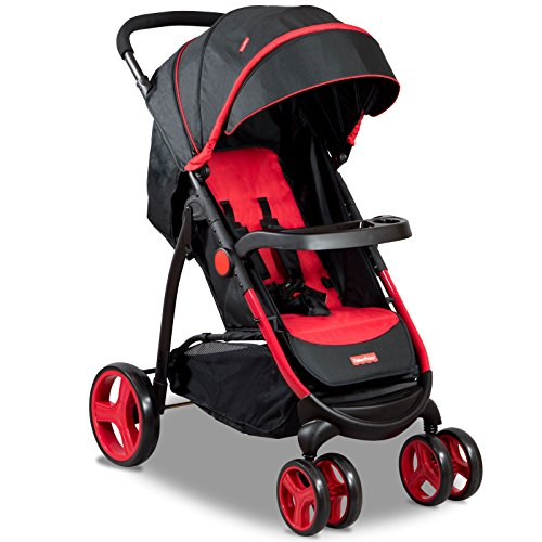 Fisher-Price Explorer Steel Stroller Cum Pram (Red)