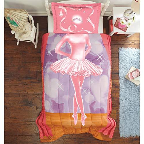 Dream Big Ballerina Kids Bed, Twin/Full, Pink