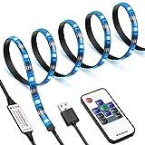 AMIR LED Streifen, LED Streifen USB 1M, RGB LED Strip mit Fernbedienung, 20 Farbwechsel, 19 Modi,...