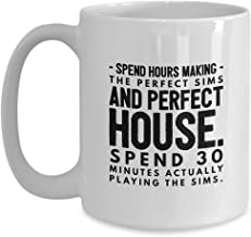 Video Games Joke Coffee Mug 15 Oz Funny Ceramic Novelty Tea Cup - Unique Quote Gift Idea For Gamer Birthday Christmas Present Anniversary Kids | White