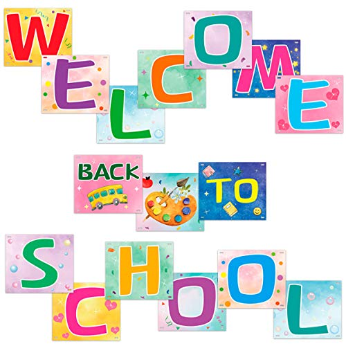 Back to School Banner Watercolor Welcome Banner Classroom Decoration Bulletin Board Cutouts