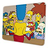 Cartoon The Simpsons Gaming Mouse Pad with Stitched Edges Computer Mouse Mat Non-Slip Rubber Base for Laptop PC 12 X 10 X 0.12 Inches