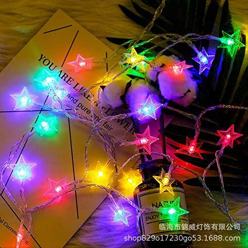 CFLFDC sterrenlichtsnoer LED klein licht gekleurd licht vakantielamp lamp lamp (Ster) kleur 10 m 100 plug-in met stekker
