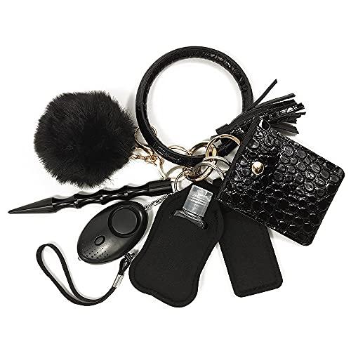 EASTVIO Self Defense Keychain Key Ring for Women Girls Set with Personal Alarm